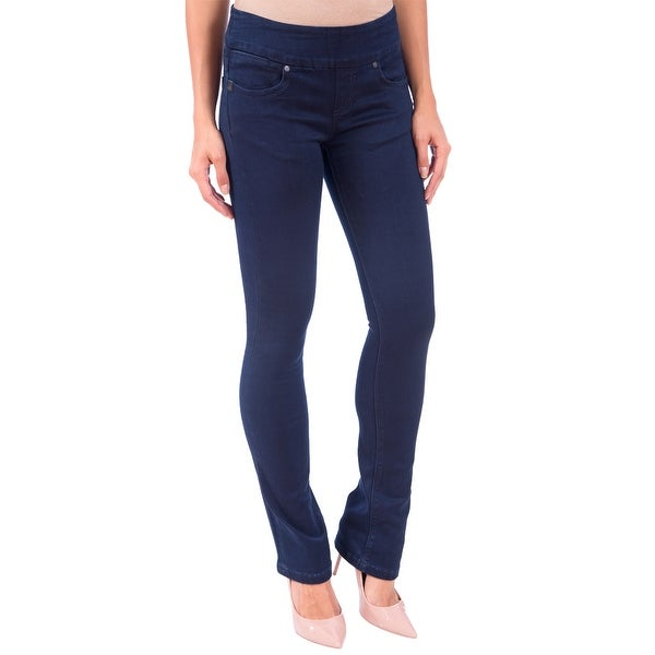 DISCONTINUED Lola Pull On Bootcut Jeans, Leah-OBLU