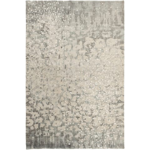 Hand-Knotted Giana Abstract Wool Area Rug - 9' x 13'