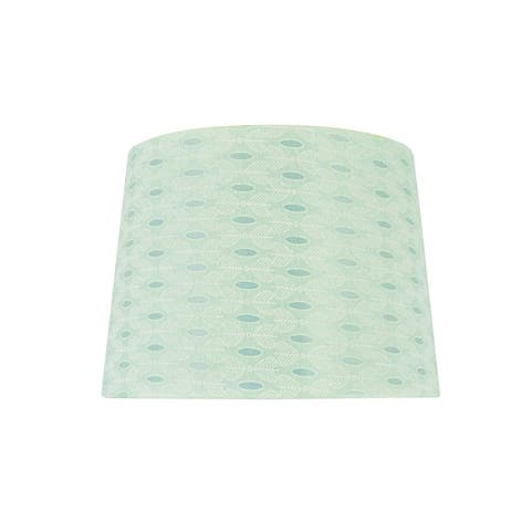 "Aspen Creative Hardback Empire Shape Spider Construction Lamp Shade in Light Green (12"" x 14"" x 10"")"