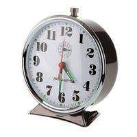 Acu-Rite 15607 Vintage Alarm Clock, Black Nickel