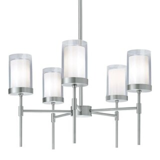 """Norwell Lighting 8971 Kimberly 5 Light 27"""" Wide Chandelier with White Shade"""