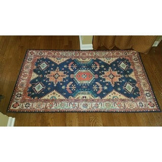 Ruggable Washable Stain Resistant Pet Accent Rug Noor Sapphire - 3' x 5'