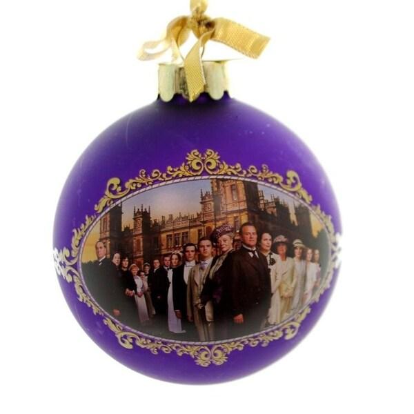 "Downton Abbey Season 1 Purple Glass Ball Christmas Ornament 3.5"" (90mm)"