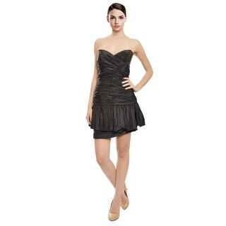 Robert Rodriguez Ruched Rhinestone Eve Dress