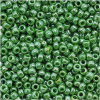 Toho Round Seed Beads 11/0 130 'Opaque Lustered Mint Green' 8 Gram Tube