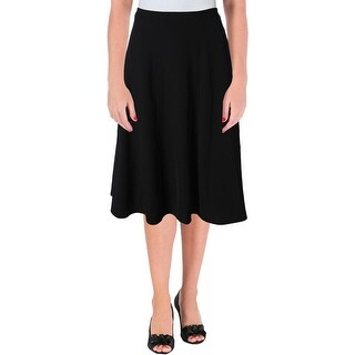 Calvin Klein Womens Petites A-Line Skirt Taffeta Long - 8P