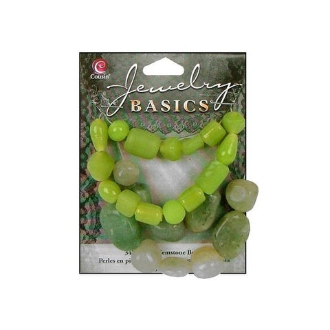 Cousin Bead Gemstone Glass Lime Green 1.55oz