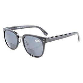 2c24368c3ce6 Shop Eyekepper Retro Bifocal Sunglasses Oversize Readers Black Frame Grey  Lens +2.25 - Free Shipping On Orders Over  45 - Overstock.com - 15920234