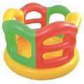 "59"" Yellow Orange and Green Portable Inflatable Children's Bounce House - Thumbnail 0"