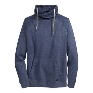 Univibe Navy Blue Heather Funnel Neck Fleece Sweatshirt Medium M