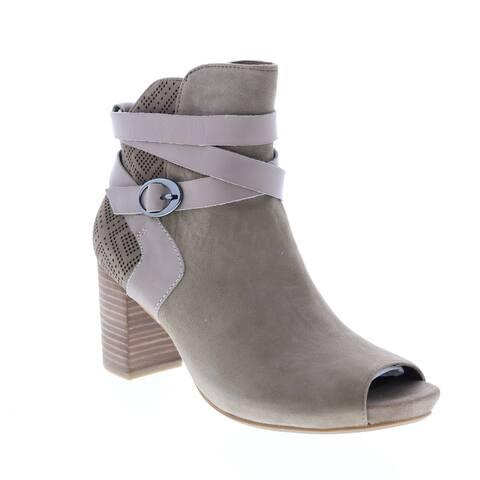 Earthies Santo Suede Boot Heel Taupe Womens Pumps Heels