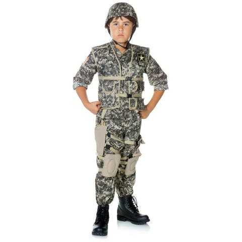 Army Ranger Deluxe Costume Child - Green