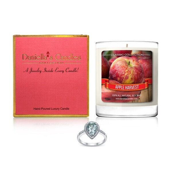 Daniella's Candles Apple Harvest Jewelry Candle, Ring Size 8