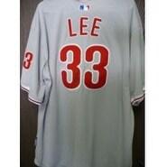 Signed Lee Cliff Philadelphia Phillies Authentic Philadelphia Phillies Jersey Size 52 autographed
