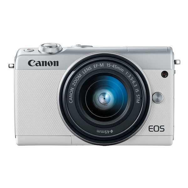 Canon EOS M100 Mirrorless Camera w/ 15-45mm Lens Wi-Fi, Bluetooth, and. Opens flyout.