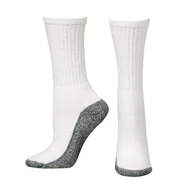 Boot Doctor Socks Mens Work Crew Reinforced 3 pack White
