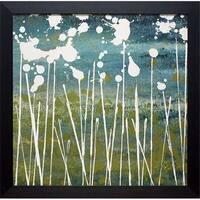 30 x 30 in. Midnight Blue Framed Landscape Art Print