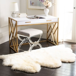 Link to SAFAVIEH Handmade Natural Sheepskin Leanca 3.4-inch Thick Rug Similar Items in As Is