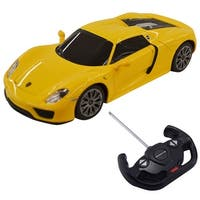 Costway 1:14 Porsche 918 Spyder Licensed Radio Remote Control RC Car w/Lights Yellow