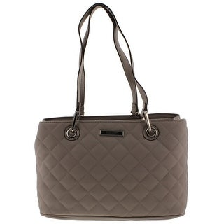 Kenneth Cole Reaction Womens Tina Satchel Handbag Faux Leather Quilted - MEDIUM