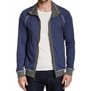 Howe NEW Military Blue Gray Mens Medium M Ribbed Full Zip Sweater