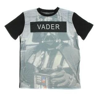 Star Wars Mens' Darth Vader Block Sublimination T-Shirt