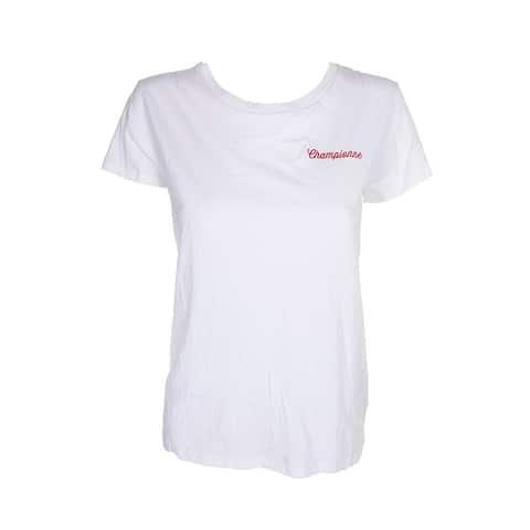 Chrldr White Short Sleeve Championne Graphic T-Shirt M
