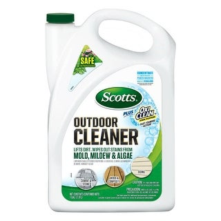 Scotts Plus 51070 Liquid Oxi Clean Outdoor Cleaner Concentrate, 128 Oz