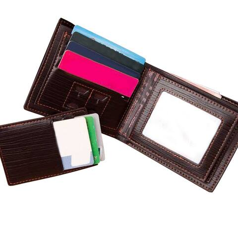 Men's Leather Wallet w/ RFID Blocking Technology (Prevents Electronic Pick Pocketing) - Black or Coffee