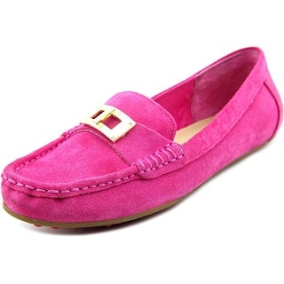 Isaac Mizrahi Alcot Women Round Toe Suede Loafer