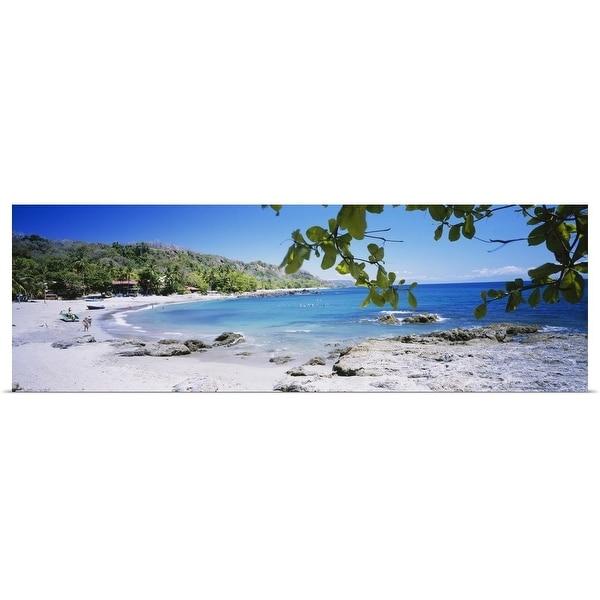"""Tourist on the beach, Montezuma, Costa Rica"" Poster Print"