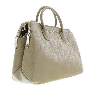 Versace EE1VOBBI6 E148 Taupe Dome Satchel/Shoulder Bag - 15-11-5