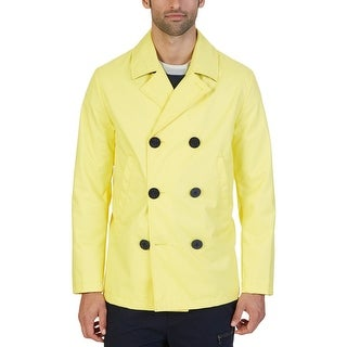 Nautica Mens Raincoat Water Resistant Double Breasted