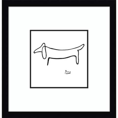 Porch & Den Pablo Picasso Le Chien (The Dog) Framed Art Print