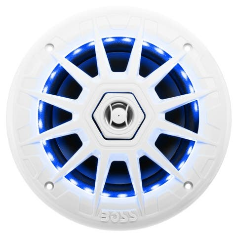 Boss MRGB65 Boss Audio MRGB65 Marine 6.5 2-way 200-watt Full Range Speakers with Multicolor Illumination Options - 70 Hz