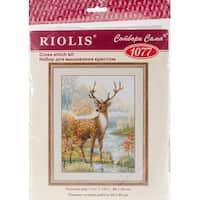 "Deer Counted Cross Stitch Kit-11.75""X15.75"" 10 Count"