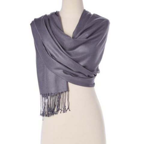 Women Stylish Solid Colors Scarves Wraps Pashmina Silk Soft Scarf And Shawl Wraps