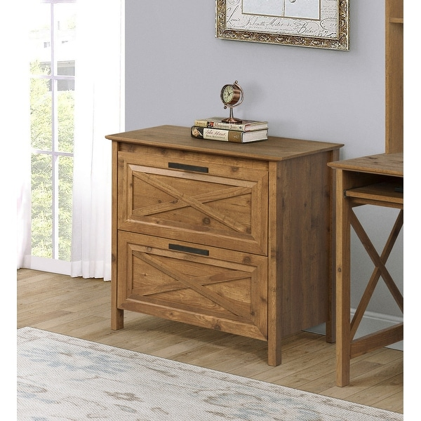 Saint Birch Austin Rustic Brown 2 Drawer Lateral Filing Cabinet Overstock 32006090