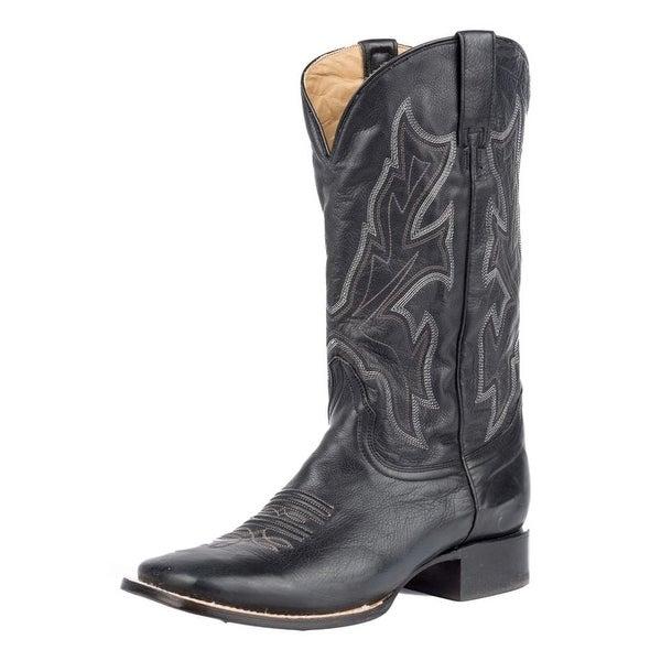 Stetson Western Boots Mens Maverick Leather Black