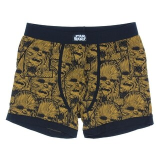 Star Wars Men's Allover Chewie Stack Pattern Boxer Briefs