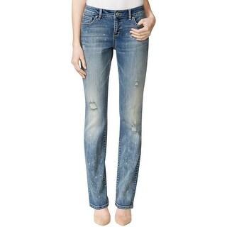 Vintage America Womens Boho Bootcut Jeans Denim Five-Pocket