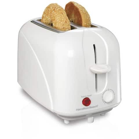 Hamilton Beach Cool-Touch 2 Slice Toaster - White - 8 x 11.2 x 7