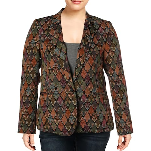 Vince Camuto Womens Blazer Tapestry One Button