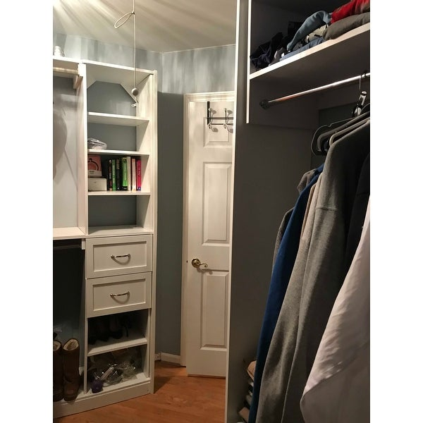 Modular Closets Wood Tall Hanging Closet Organizer Section Free Shipping Today 21905457