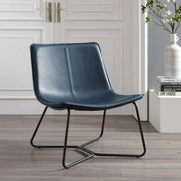 Carbon Loft Low Profile Faux Leather Accent Chair. Opens flyout.
