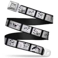 Steamboat Willie Mickey Mouse Smiling Full Color White Black Steamboat Seatbelt Belt
