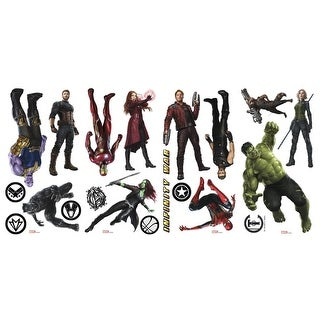 York Wallcoverings RMK3767SCS RoomMates 20 Piece Avengers Infinity War Characters Repositionable Peel and Stick Wall Decals