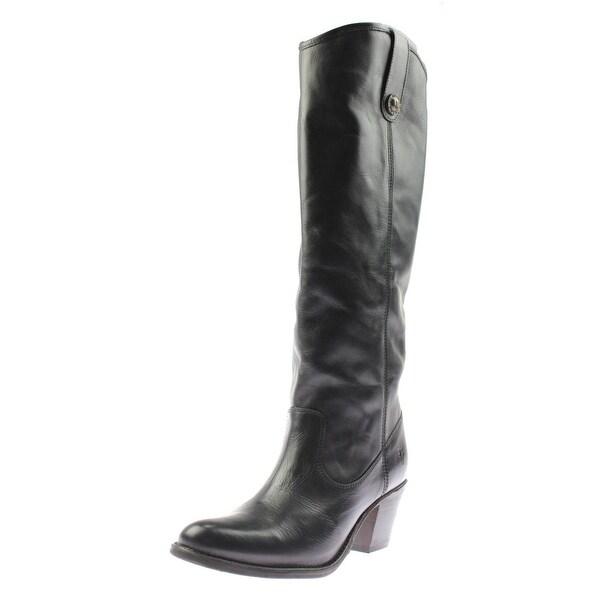 Frye Womens Jackie Button Knee-High Boots Leather Heels - 6 medium (b,m)