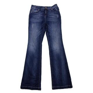 Inc International Concepts Indigo Wash Slim Flared Jeans