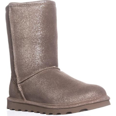 Bearpaw Elle Short Cold Weather Boots, Pewter Distressed